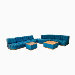 Vintage Modular 9-Seater Maxi Sofa Living Room Set