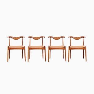 Skandinavische Vintage Bull Chairs, 4er Set