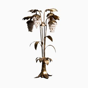 Hollywood Regency Floor Lamp with Alabaster Grapes
