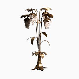 Hollywood Regency Stehlampe mit Alabastertrauben