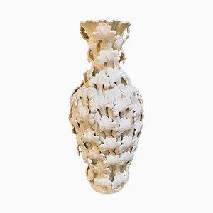 Jarrón vintage de cerámica de Manises, años 50