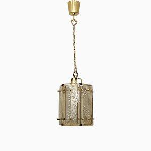 Lampada a sospensione vintage in ottone di Malmo Metallvarefabrik, Svezia, anni '60