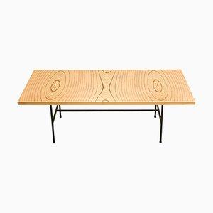 Tavolino vintage in compensato laminato di Tapio Wirkkala per Asko