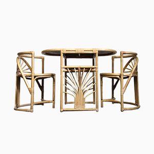 Mid-Century Compact Tisch & 2 Stühle