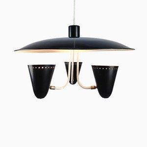 Lampada da soffitto vintage di H. Th. J. A. Busquet per Hala, anni '50