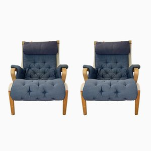 Pernilla Lounge Chairs by Bruno Mathsson for Dux, 1960s, Set of 2