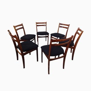 Vintage Danish Rosewood Chairs, 1960s, Set of 6