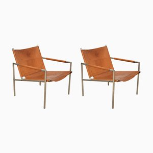 Pair of SZ02 Lounge Chairs by Martin Visser for 't Spectrum, 1969