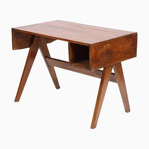 Scrivania da ufficio in legno massiccio di Pierre Jeanneret, anni '60