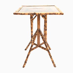 Antique English Japanese Style Bamboo Table