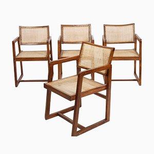 Vintage Armlehnstühle von Pierre Jeanneret, 4er Set