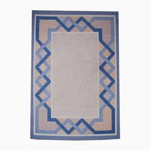 Swedish Tinto Flat-Weave Rölakan Carpet by Anna Johanna Ångström, 1960s