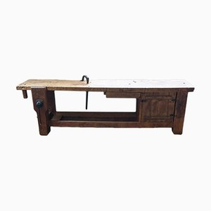 Large Oak Carpenter's bench, 1950s