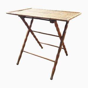 Tavolo pieghevole antico in legno, inizio XX secolo