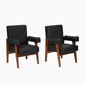 Lawyer Chairs by Le Corbusier & Pierre Jeanneret, 1955, Set of 2