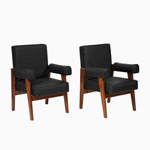 Lawyer Chairs von Le Corbusier & Pierre Jeanneret, 1955, 2er Set