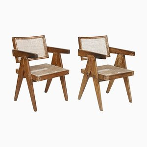 Cane Chairs by Pierre Jeanneret, 1956, Set of 2