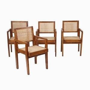 Fauteuils Take Down par Pierre Jeanneret, 1950s, Set de 4