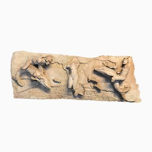 Vintage Mythological-Themed Stucco Wall Decoration