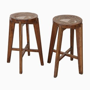 Stools by Pierre Jeanneret, 1960s, Set of 2