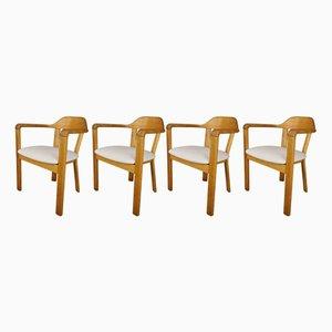 Armlehnstühle mit Gestell aus Eiche, 1970er, 4er Set