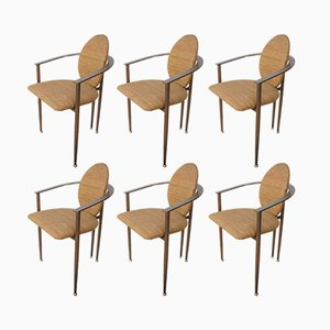Armchairs from Belgo Chrom, 1980s, Set of 6