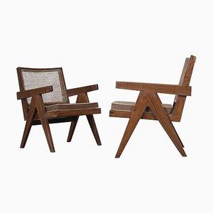 Vintage Sessel von Pierre Jeanneret, 2er Set