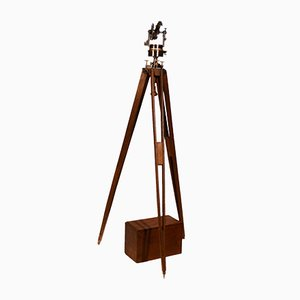 Antique Theodolite with Tool Holder Box and Stand