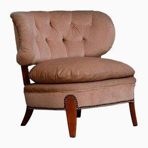Vintage Sessel & Pouf von Otto Schulz für Boet, 1940er, 2er Set
