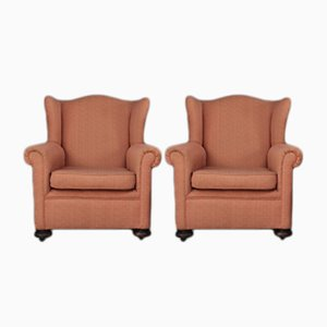 Vintage Wingback Armchairs, Set of 2