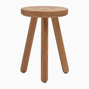 Natural Oak Stool One by Another Country