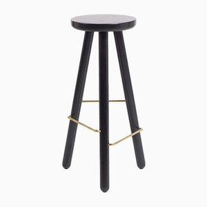 Petit Tabouret de Bar One en Frêne Noir par Another Country