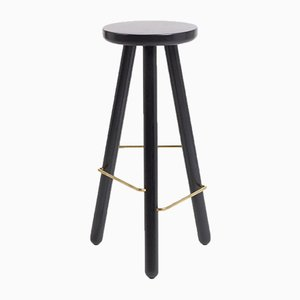 Large Black Ash Bar Stool One by Another Country