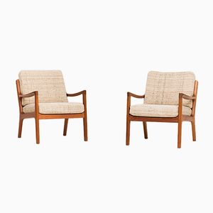 Model 166 Easy Chairs by Ole Wanscher for Cado, 1950s, Set of 2
