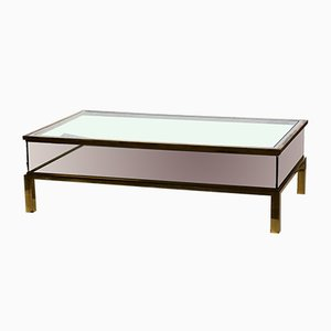 Sliding Design Brass Coffee Table from Maison Jansen, 1970s