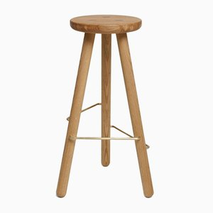 Large Natural Oak Bar Stool One by Another Country