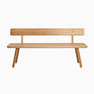 Small Oak Back Bench One by Another Country