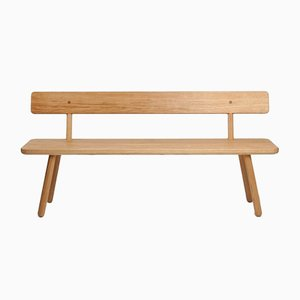 Medium Oak Bench Back One by Another Country