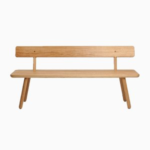 Large Oak Bench Back One by Another Country