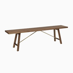 Medium Walnut Seating Bench Two by Another Country