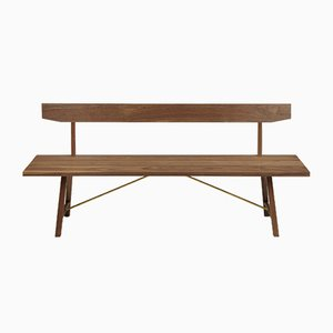 Banc Medium Back Two en Noyer par Another Country