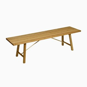 Oak Outdoor Bench Two by Another Country