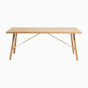 Oak Outdoor Table Two by Another Country