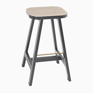 Tabouret de Bar Three en Hêtre Gris par Another Country