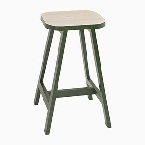 Oxford Green Beech Bar Stool Three by Another Country