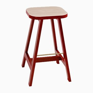 Wellington Red Beech Bar Stool Three by Another Country