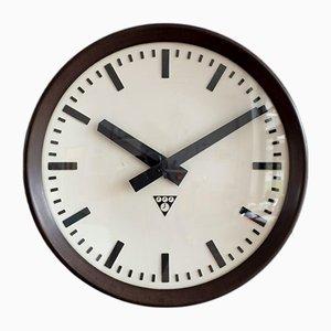 Horloge de Gare Vintage en Bakélite de Pragotron, 1970s