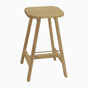 Oak Bar Stool Three by Another Country