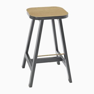 Chamberlayne Grey Oak Bar Stool Three by Another Country