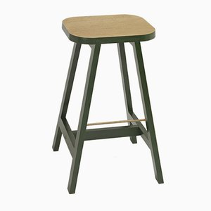 Oxford Green Oak Bar Stool Three by Another Country